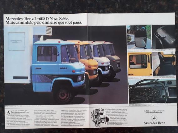 Propaganda Antiga Anúncio Caminhão Mercedes Benz L 608 D
