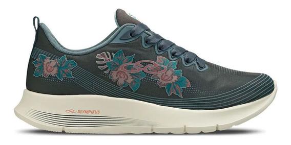 Tênis Olympikus Charmer Feetpad Floral Fitness Original + Nf