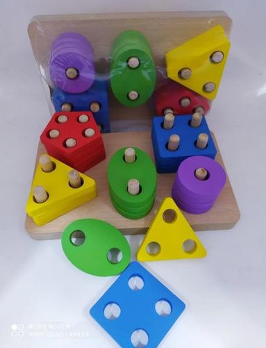 Juego Didactico De Figuras Geométricas Infantil