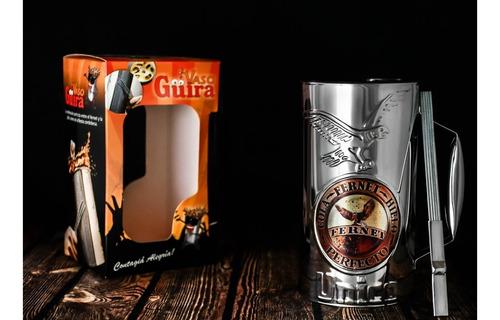 Vaso Guira Pro Custom Fernet Perfecto Con Raspador - Oddity