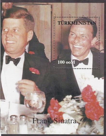 Turkmenistan 1997 Hb Mint Frank Sinatra Y J F Kennedy