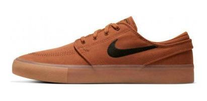 Tênis Nike Sb Stefan Janoski Marrom Com Nf Original