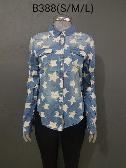 Camisa De Mezclilla Estrellas En Talla Chica