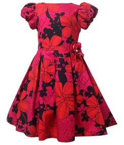 Vestido De Fiesta Sin Manga Y Flores (25955)