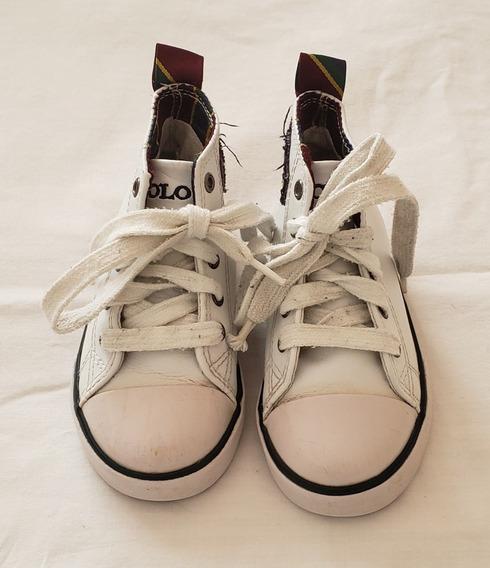 Zapatillas Botitas De Cuero Polo Ralph Lauren Originales 21a