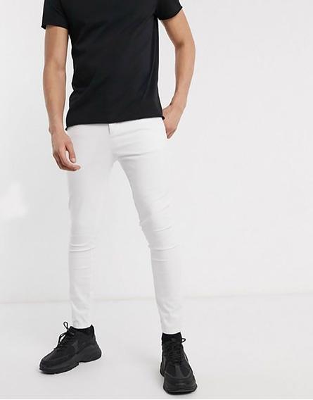 Pantalon Slim Fit Stretch Rosado De Caballero #2105
