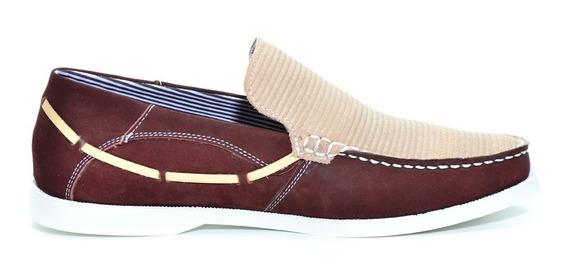 Sapato Social Couro Nobuck Mocassim Top Numeros Especiais