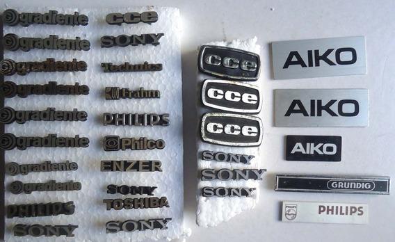 Logotipos Emblemas Para Som Antigo Gradiente Sony Cce Outros