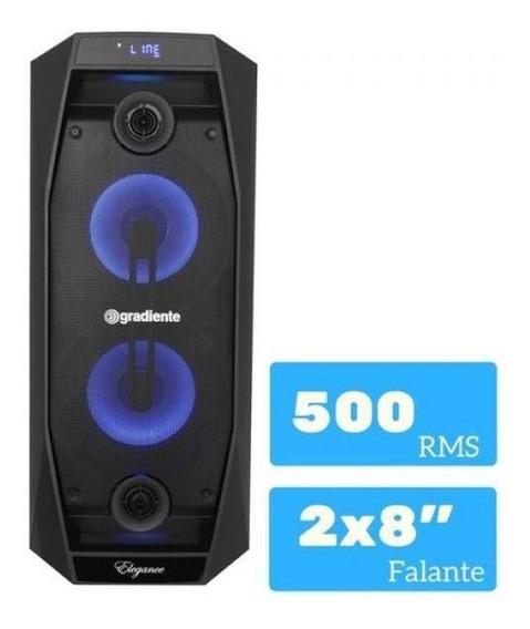 Caixa De Som Amplificada Gradiente Bluetooth Fm Usb Sd 500w