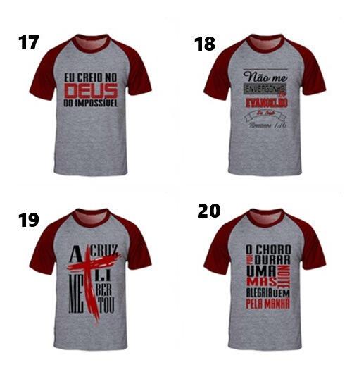 20 Camisetas Camisas Masculinas E Feminina Com Frases Evangélicas Varias Cores