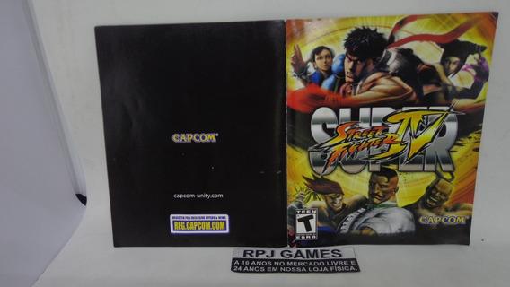 Só O Manual Do Super Street Fighter 4 Ps3 - Sem Disco Caixa