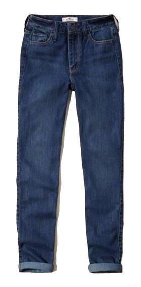 Hollister Calça Jeans Cintura Alta Feminina Tamanho 36
