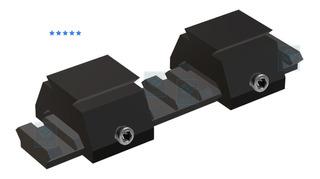 Kit 2 Adaptadores Trilho 22mm Para 11mm Luneta Red Dot Scope