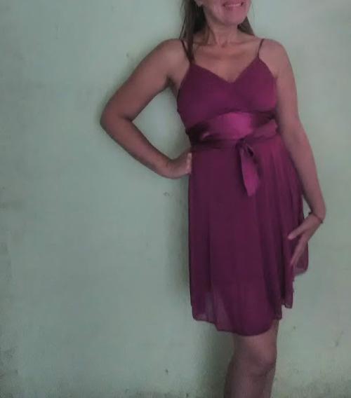 Vestido De Fiesta Color Rosa Oscuro