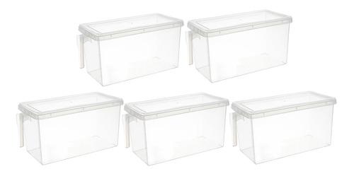 Imagen 1 de 8 de 5xplastic Storage Bin Box Refrigerador Contenedor De