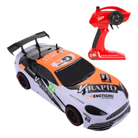 Auto Carrea Radio Control Remoto Rc Recargable Escala 1/10