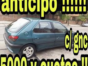 Peugeot 306*full-full*gnc*$85 Contado O $5000 Y Cuotas!!!!!!
