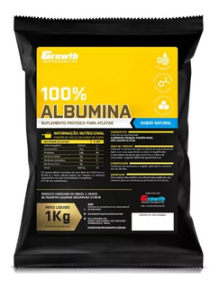 Albumina Pura Growth Supplements 1kg Original Pronta Entrega