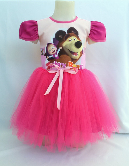 Vestido Infantil Masha E O Urso Fantasia Masha Bailarina