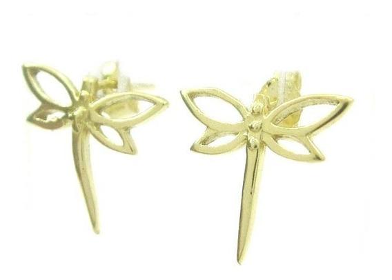 Joianete B9112-60871 Brinco De Ouro Forma De Libélula