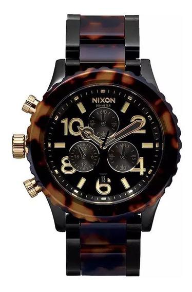 Relógio Nixon 42-20 Chrono All Black Tortoise