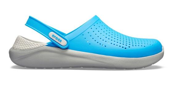 Sandalia Unisex Crocs Literide Clog Azul/gris