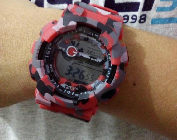 Relógio Masculino Camuflado Ant Shock Digital Militar Barato