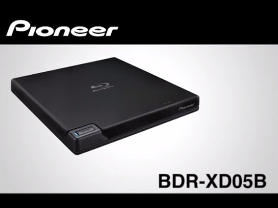 Gravador Blu-ray Pioneer Bdr-xd05b Usb 3.0 + 5 Bd-r 25gb