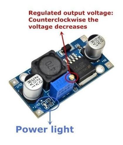 Placa Fonte Regulador Ajustavel Tensao Lm2596 Arduino