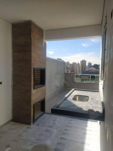 Imagem 1 de 14 de Cobertura Com 2 Dormitórios À Venda, 70 M² Por R$ 365.000,00 - Vila Scarpelli - Santo André/sp - Co0398