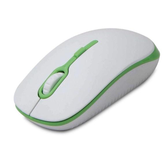 Mouse Óptico Soft Branco/verde 1200dpi - Maxprint