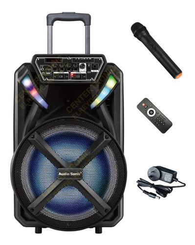 Imagen 1 de 8 de Bafle Recargable Bluetooth Muy Potente Parlante 12 Pulgadas Con Control Remoto Sd Usb Musica