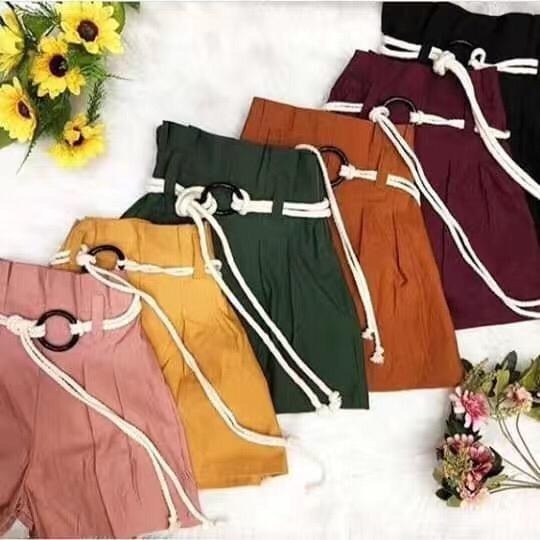 Kit 10 Shorts Bengaline Cintura Alta Moda Feminina Atacado