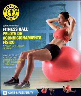 Pelota Balon De Entrenamiento Golds Gym 65 Cms Con Inflador
