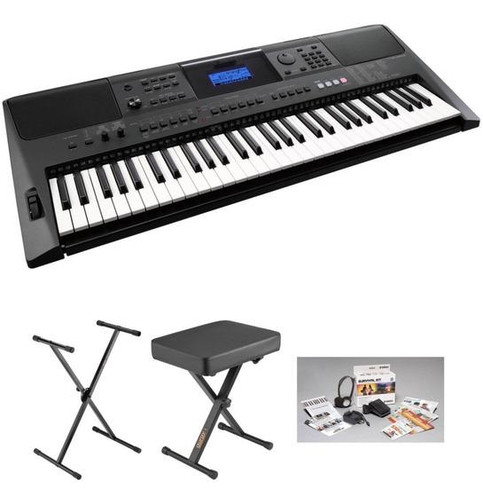 Yamaha Electronic Keyboard Psr-e453 (incluye Pedal, Soporte,