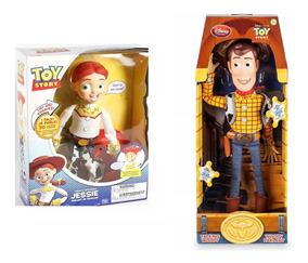Bonecos Toy Story Woody + Jessie (novo Na Caixa)