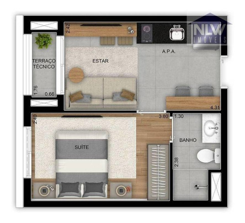 Imagem 1 de 16 de Studio Com 1 Dormitório À Venda, 28 M² Por R$ 238.000,00 - Jardim Prudência - São Paulo/sp - St0242