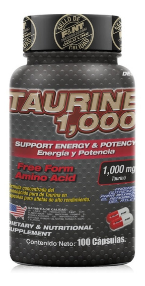 Taurine 1,000: Fórmula De Taurina Pura En Cápsula. Fnt