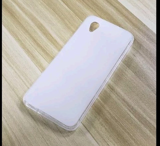 Capa Para Alcatel 1 5033j Transparente Com Branco Fosco