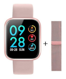 Relogio Inteligente Smart Watch Rose iPhone Android P70 Pro