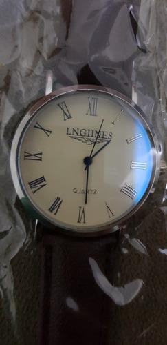 Relógio Aço Inoxidável Pulseira Couro Bom Para Presente!!!!