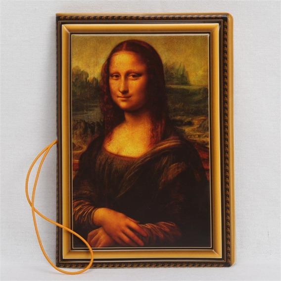 Capa Para Passaporte De Pvc Pintura Monalisa Porta Cartão @