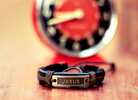 Pulseira Jesus De Couro