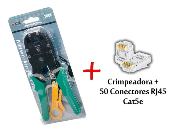 Crimpeadora Red Rj45 Rj12 Rj11 + Conectores Rj45 Cat5e