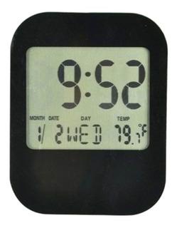 Reloj Mesa Escritorio Plástico Moderno Compacto Pantalla Lcd