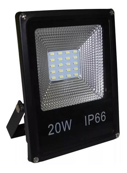 Kit 3 Refletor Led Holofote 20w Smd Bivolt Branco Frio Ip66