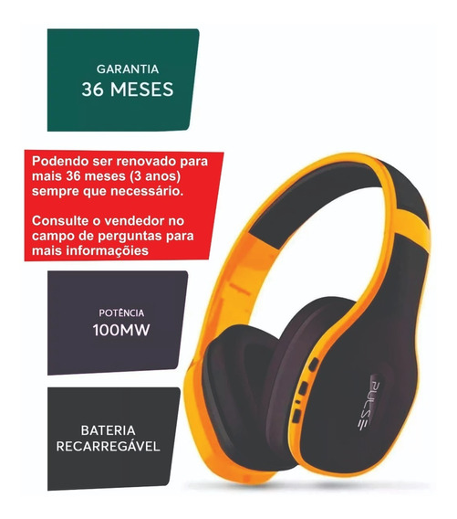 Fone De Ouvido Bluetooth 4.0 Pulse Ph151(c/estrutura+forte)