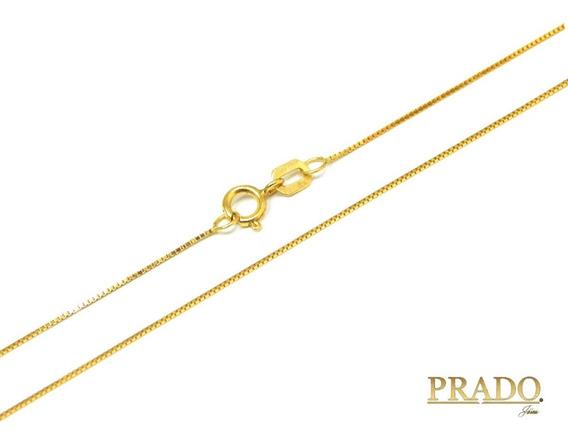 Corrente Cordão Colar Em Ouro 18k Veneziana 45cm