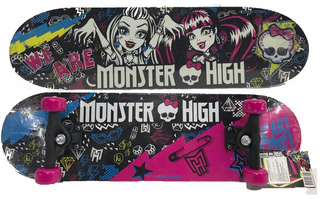 Patineta Skateboard Skate Infantil Niñas Monster High 70 Cm