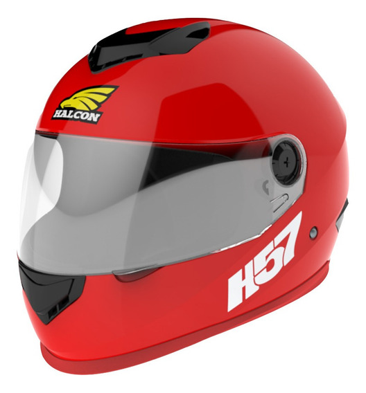 Casco Moto Halcon H57 Integral Rojo Tienda Oficial